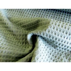 Cotton waffle fabric -duck egg green