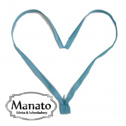 invisible zip -  turquoise - length from 22cm to 60cm