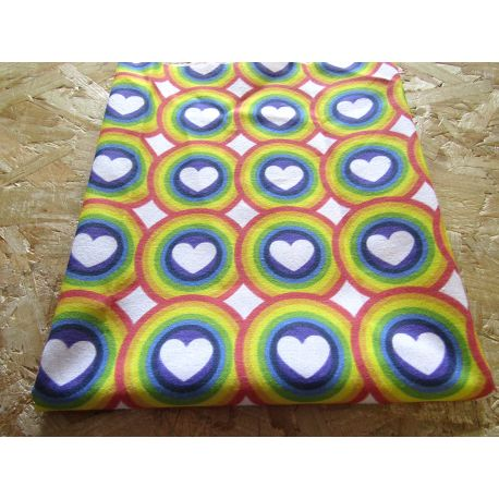 Rainbow_Hearts - cotton canvas