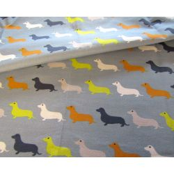 Dachshunds_duck_egg_blue- cotton canvas