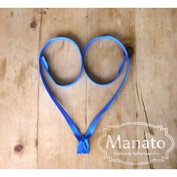 invisible zip -  blue - length from 22cm to 60cm