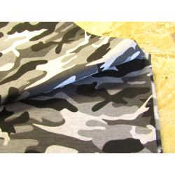 Camouflage white- grey-black - Terry jersey