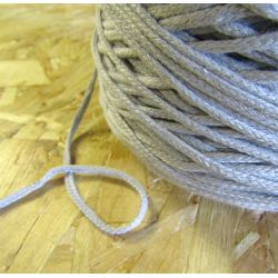 Braided Cotton Cord 3mm - grey
