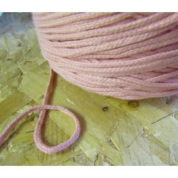 Braided Cotton Cord 3mm - peach pink
