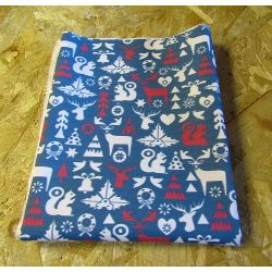 Scandinavian Christmas Fantasy teal - 100% Cotton