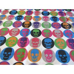 FUNKY SKULLS_MULTICOLOR - 100% Cotton