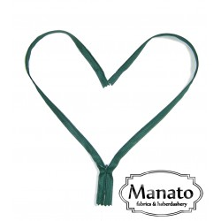 invisible zip - dark green - length from 22cm to 60cm