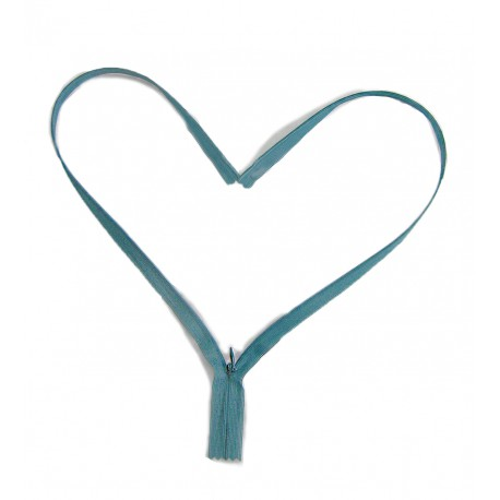 invisible zip - dark turquoise - length from 22cm to 60cm