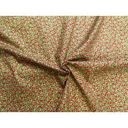 Holly Berry metallic red - 100% Cotton