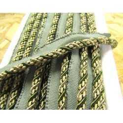 Two-tone upholstery piping cord - olive&beige