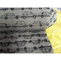 Cars on grey - Cotton French terry jersey