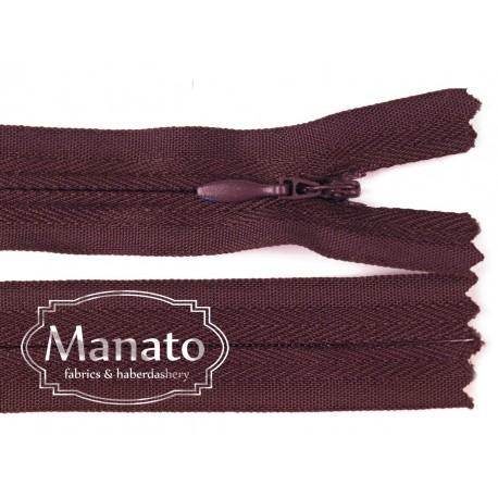 invisible zip -dark purple - length from 22cm to 60cm