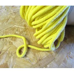 Braided Cotton Cord 5mm - dark yellow- 50m