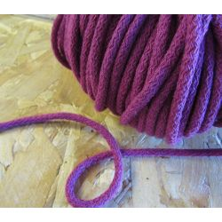 Braided Cotton Cord 5mm - raspberry