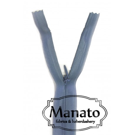invisible zip - petrol blue - length from 22cm to 60cm