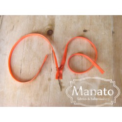 invisible zip - orange red- length from 22cm to 60cm