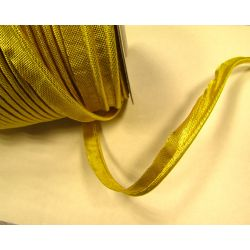 Flanged fabric piping cord  - gold brocade