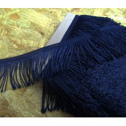 bullion fringe - navy - 80mm