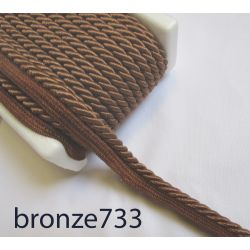 Twisted flanged rope  piping cord 7mm - bronze