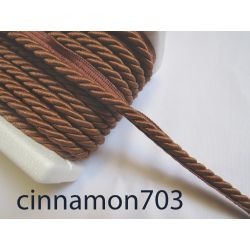 Twisted flanged rope  piping cord 7mm - cinnamon703