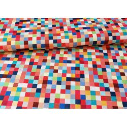Summer - Colorful pixels -  Water resistant fabric