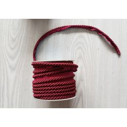 Flanged piping cord 6mm  - burgundy