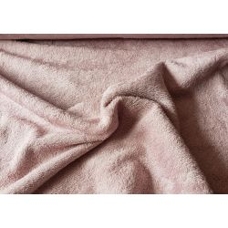Bamboo terry towelling fabric- blush pink