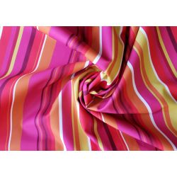 Outdoor water resistant  fabric - Mexican stripe - fuchsia