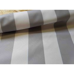 Outdoor water resistant fabric - grey stripes