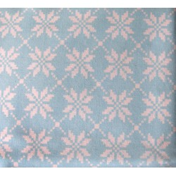 Norwegian stars on blue - 100% Cotton