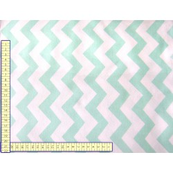 Mint green Zig Zag - 100% Cotton