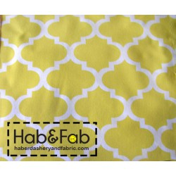 Arabesque pattern - Yellow  - 100% Cotton