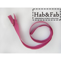 invisible zip - magenta- length from 22cm to 60cm