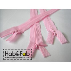 invisible zip pink - length from 20cm to 60cm