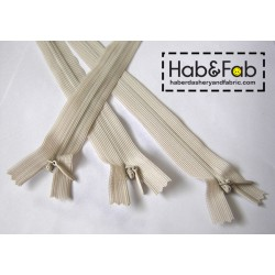 invisible zip beige - length from 18cm to 60cm