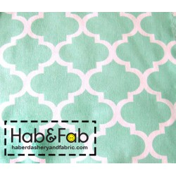 Arabesque pattern - turquoise  - 100% Cotton