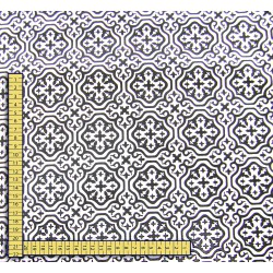 Moroccan mosaic  - Black&White  - 100% Cotton