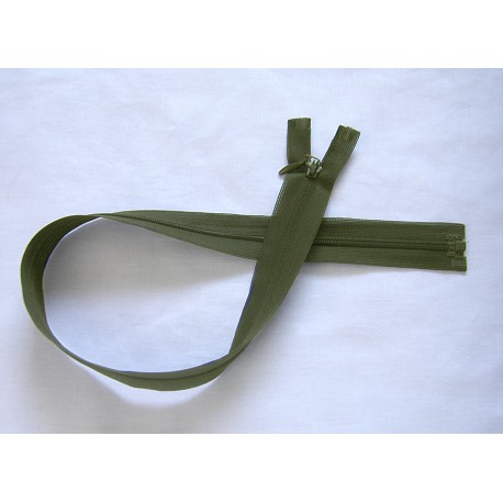 Invisible Zip 50 cm - dark green - open end zip