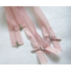 Invisible Zip 29 cm - pale  pink- open end zip