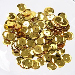 gold cup sequins - 8mm