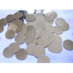 Flat Disc Sequins - 18mm - gold