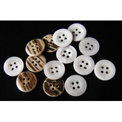 white medium size pearl button