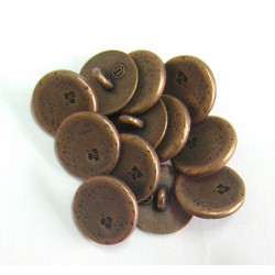 metal copper shank button