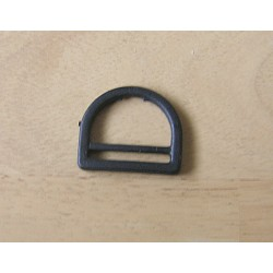 D ring - plastic - black 28mm