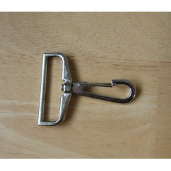 Swivel hook - metal - silver 38mm