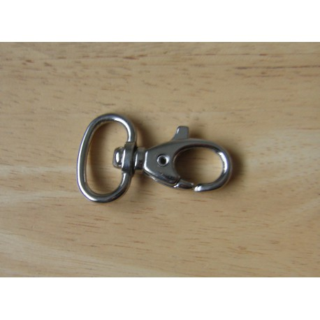 Swivel hook - metal - silver 18mm