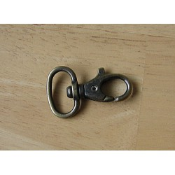 Swivel hook - metal - antique brass 18mm