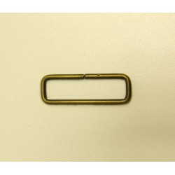 Rectangle Metal  D ring - 38mm - antique brass