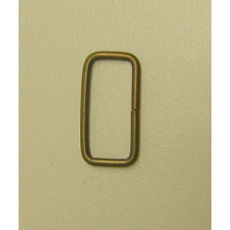 Rectangle Metal D ring - 25mm - antique brass