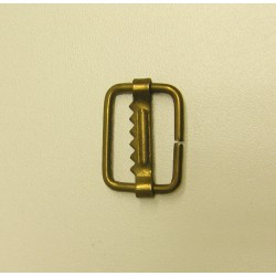 Metal sliding bar adjuster  -25mm - antique brass
